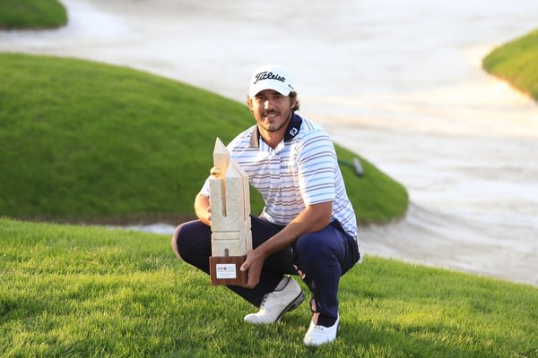 Brooks Koepka with the Turkish Airlines Trophy.Picture Fran Caffrey  www.golffile.ie