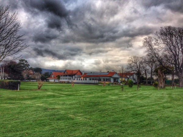 The famous Woodbrook clubhouse