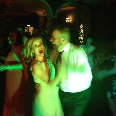 Shane Lowry whirls Wendy Iris Honner around the dance floor. Picture via  twitter.com/wendyirishonner