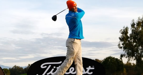 Niall Kearney in action in the Titleist PGA Play-offs in Turkey. Picture via PGA.info