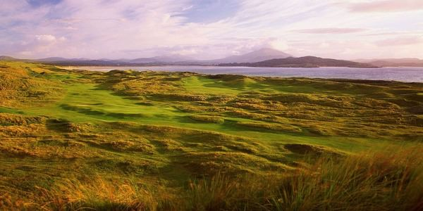 The 13th and 15th holes on the Old Tom Morris Links at  Rosapenna Hotel and Golf Resort  in Co Donegal