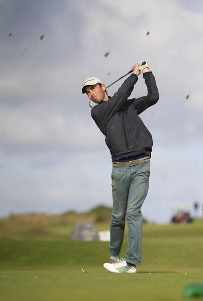 Tommy O'Driscoll (Ring of Kerry) on the 7th tee during Round 3 of the Irish Youths Amateur Close Championship in Ardglass. 29th August 2014. Picture: Thos Caffrey /  www.golffile.ie