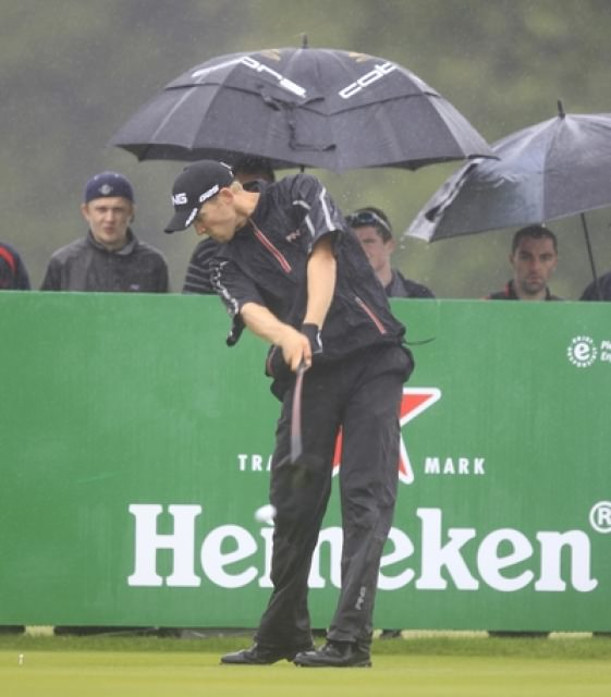 Seamus Power, a Team Ireland Golf Trust recipient, during the 2013 Irish Open at Carton House.Picture: Thos Caffrey /  www.golffile.ie