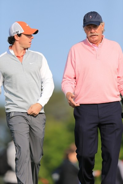 Rory McIlroy and Dermot Desmond at Carton House in June 2013.  Picture: Fran Caffrey /  www.golffile.ie