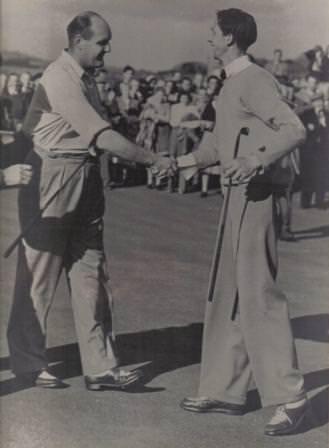 Ceil Ewing and JB Carr in 1950. Picture courtesy  County Sligo Golf Club