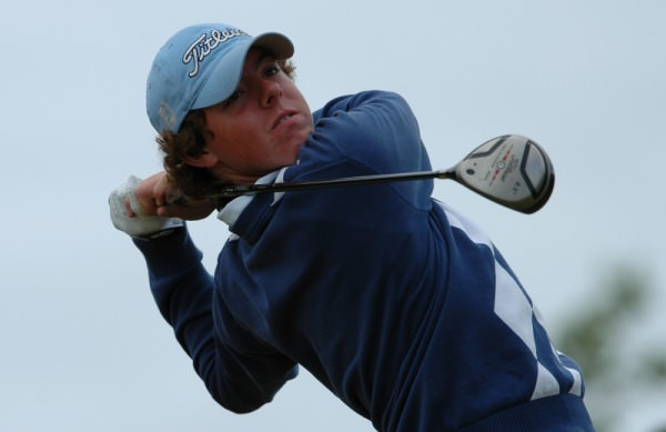 Rory McIlroy en route to victory in the 2005 Irish Amateur Close. Picture courtesy  Westport Golf Club