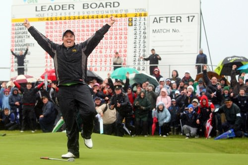 Shane Lowry wins the 3Irish Open as an amateur in 2009. Picture via  ShaneLowryGolf.com