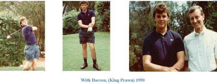 Former GUIcoach Howard Bennett recalled Darren Clarke's liking for prawn s back in 1990