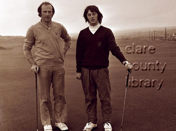 Michael Guerin(left)with Mark Gannon at the 1973 South ofIreland