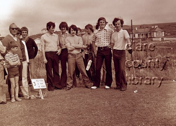 Des Smyth, second from the right, at the 1973 South of Ireland Championship