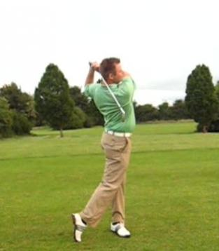 Mike Quinlivan in action.