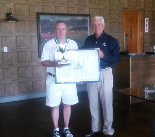 Cape Winelands Senior Amateur Open Champion 2015, Garth McGimpsey. Picture via De Zalze Golf Club