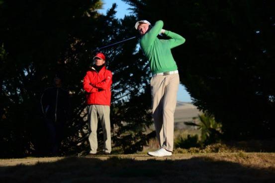 Robin Dawson in action at Sherry Golf. Picture courtesy  Real Federación Española de Golf