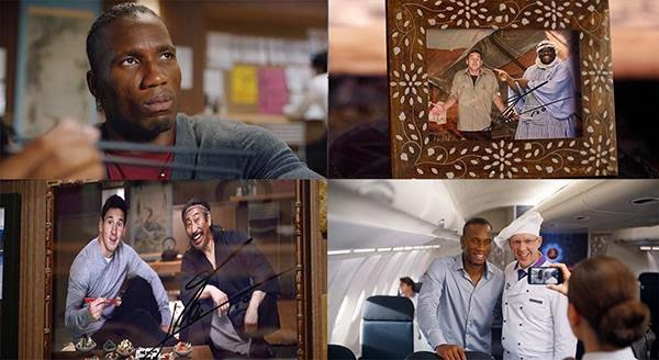 An image from Turkish Airlines' epic food ad featuring Lionel Messi and Didier Drogba