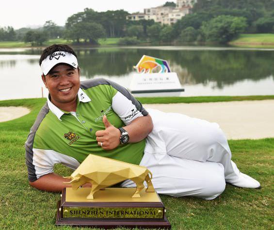 Kiradech Aphibarnrat, winner ofthe inauguralShenzhen International. Picture © Getty Images