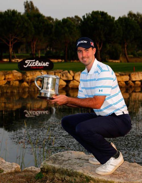 Niall Kearney following his win in the Titleist PGA Playoffs in Turkey last year.