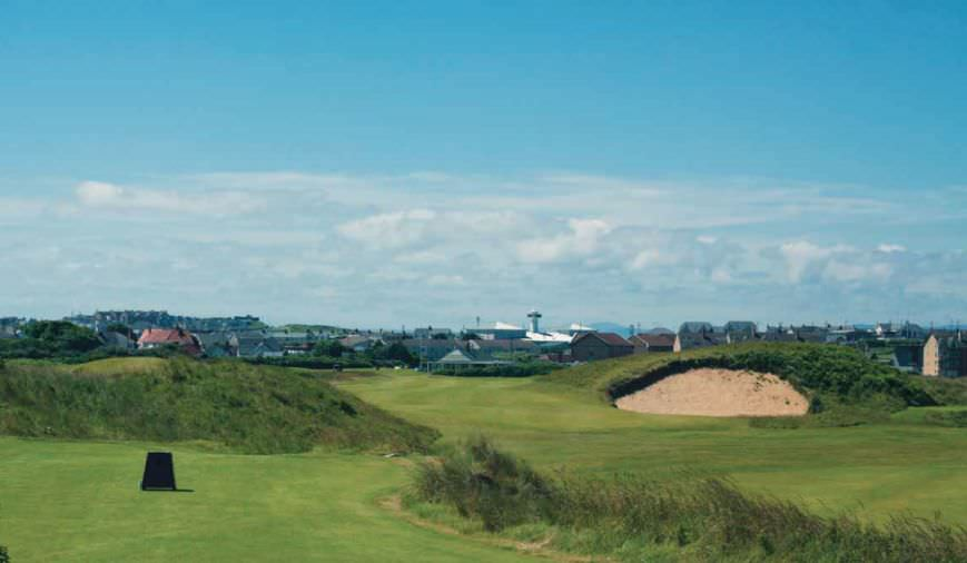 The Big Nellie bunker on the 17th could be recreated on the new seventh on the Dunluce Links at Royal Portrush. Image viaMackenzie and Ebert booklet
