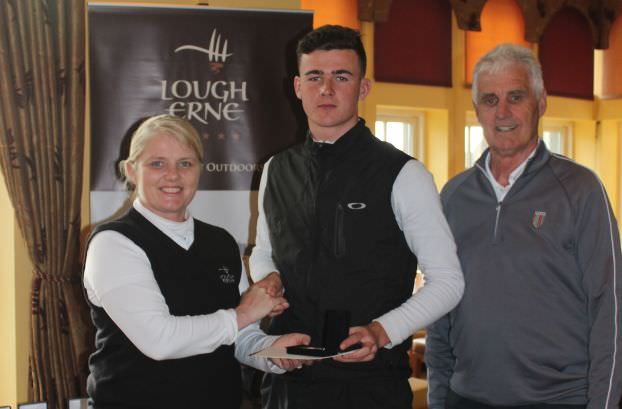Jamie Fletcher needed to go five extra holes to win the Under 21 prize at Lough Erne