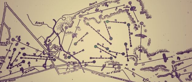 An old map of the links at Portrush