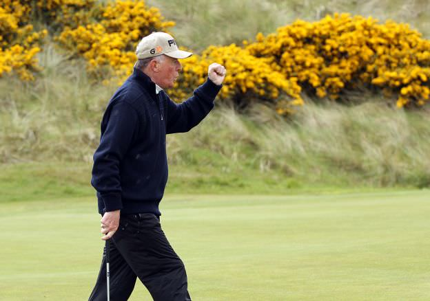 Tom Cleary celebrates at Waterville. Picture courtesy Niall O'Shea/ Cork Golf News