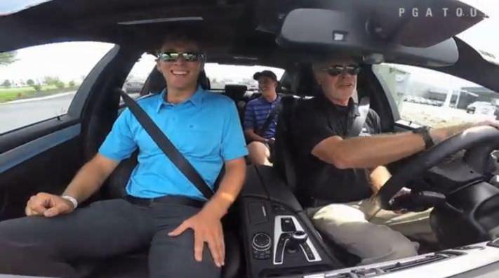 Seamus Power got a Hot Lap ridein a high performance car earlier in the week