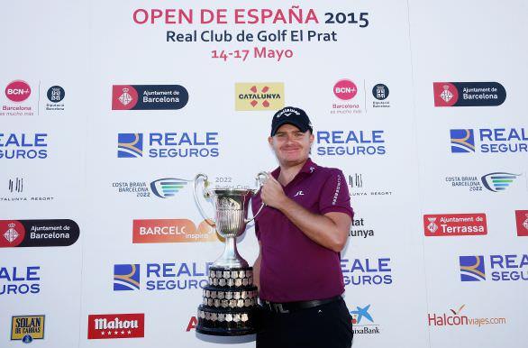 James Morrison with the Open de España trophy. Picture © Getty Images