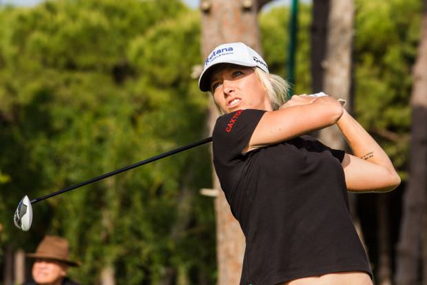 Melissa Reid leads the Turkish Airlines Ladies Open at halfway. Picture courtesy Tristan Jones (Ladies European Tour).