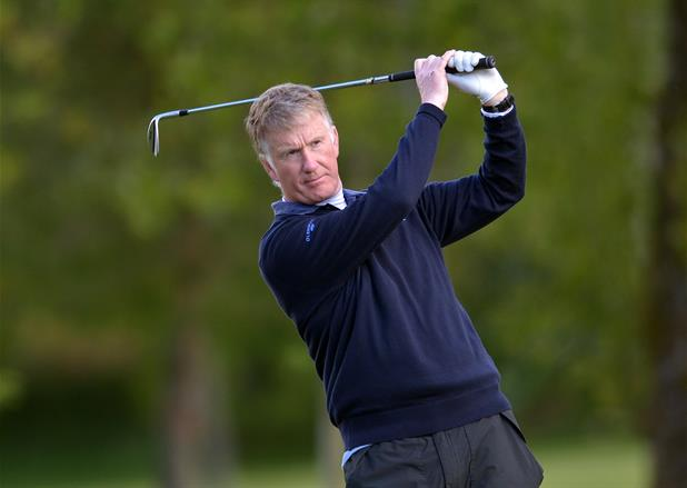 England's Richard Partridge en route to victory in the Irish Seniors Amateur Open in Roscommon. Picture:  Pat Cashman