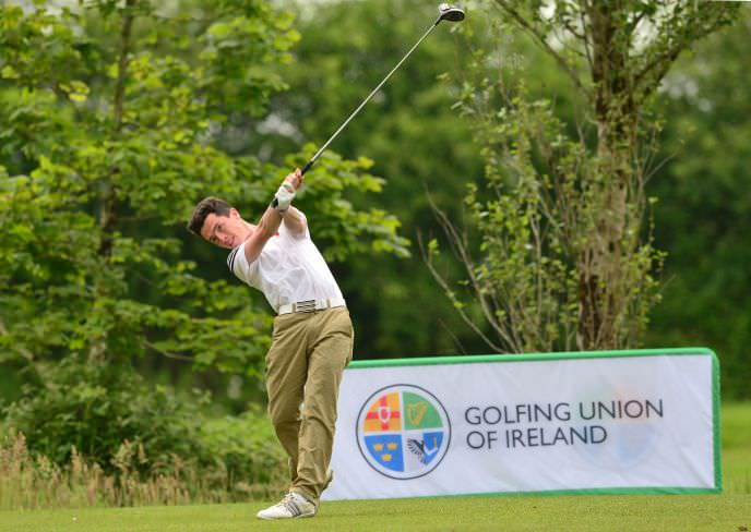 Rory Williamson (Holywood) driving from the 9th tee.Picture by Pat Cashman