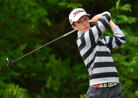 Harry Gillivan (Westport) driving from the 6th tee during the third round of the 2015 Irish Boys Amateur Open Championship Picture by Pat Cashman