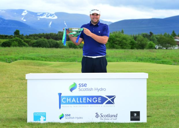 Jack Senior with the SSE Scottish Hydro Challenge trophy. Picture: Getty Images