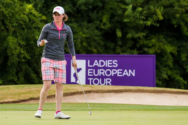 Leona Maguire in action in the final round. Picture: Ladies European Tour.