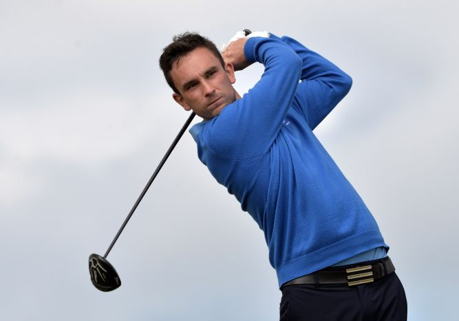 Ian O'Rourke (Munster) driving from the 1st tee during the second day of the 2015 Interprovincial Championship at Rosapenna. Picture by Pat Cashman