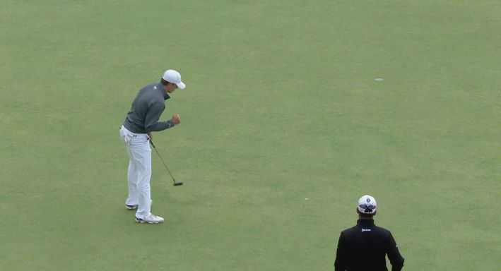 Jordan Spieth had 28 putts on day one of The Open
