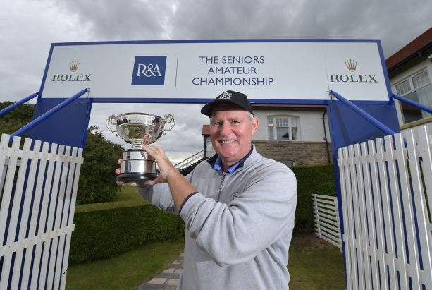 Patrick Tallent wins the Seniors Amateur Championship at Royal County Down. (7 August 2015) Credit: The R&A