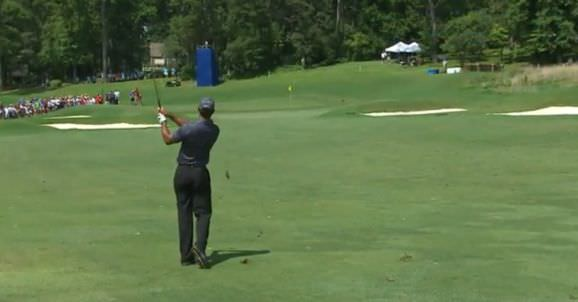 Tiger Woods leads in Greensboro