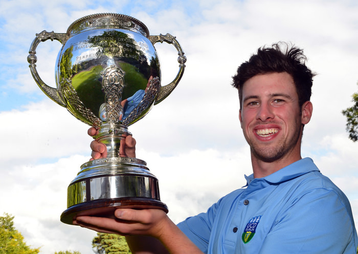 Alex Gleeson (Castle / UCD) winner of the Irish Youths Open Championship at Moyola Park Picture by  Pat Cashman