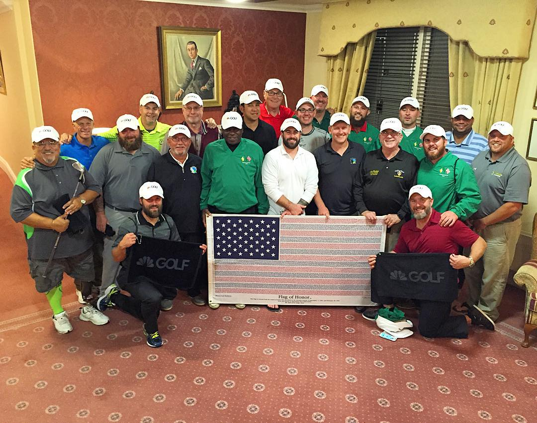 """The """"Golf Supports Our Troops"""" veterans at  Rosapenna Hotel and Golf Resort  in Co Donegal"""