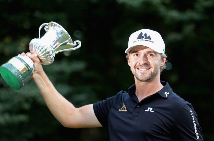 Rikard Carlsberg with the Italian Open. Picture Getty Images