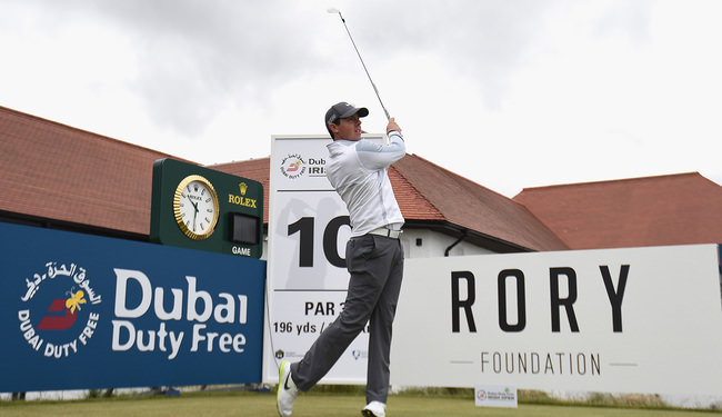 Rory McIlroy at Royal County Down earlier this year. Picture: Getty Images