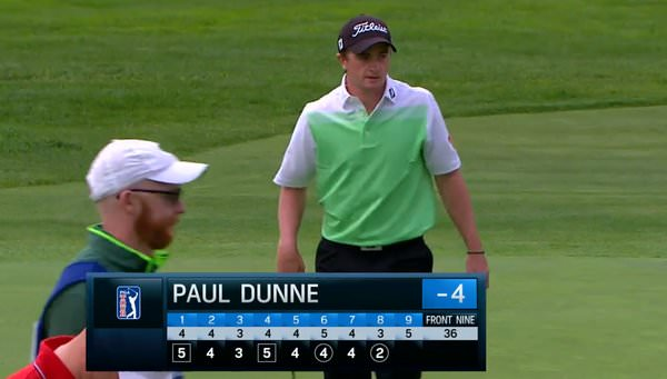 Paul Dunne and US based Greystones man, Alan Murray, his caddie in The Open.