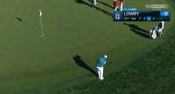 Lowry bogeys the 10th
