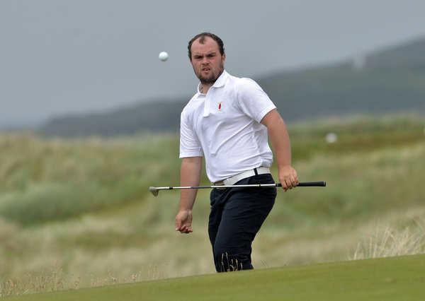 Jordan Hood in action during the 2015 Interprovincial Championship at Rosapenna. Picture by  Pat Cashman