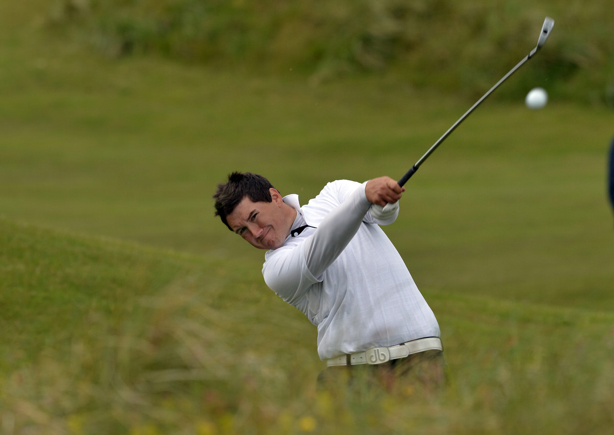 Colm Campbell is leading the Irish challeng for the Lytham Trophy.Picture by  Pat Cashman
