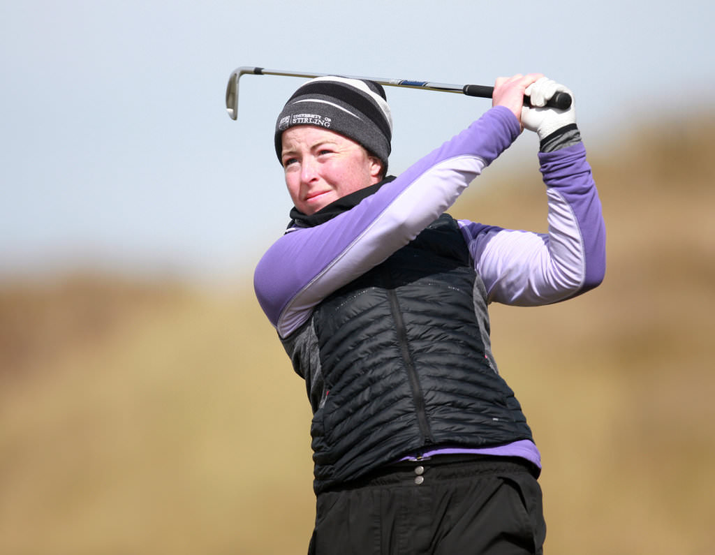Lahinch's Sinead Sexton, picture during the recent the Irish Women's Open Strokeplay at The Island, lead the Irish Women's Close quaiifiers on her home course. Picture: Ronan Lang