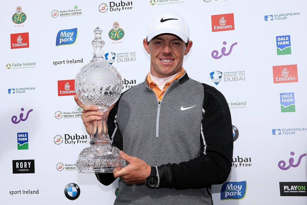 The Irish Open champion Rory McIlroy