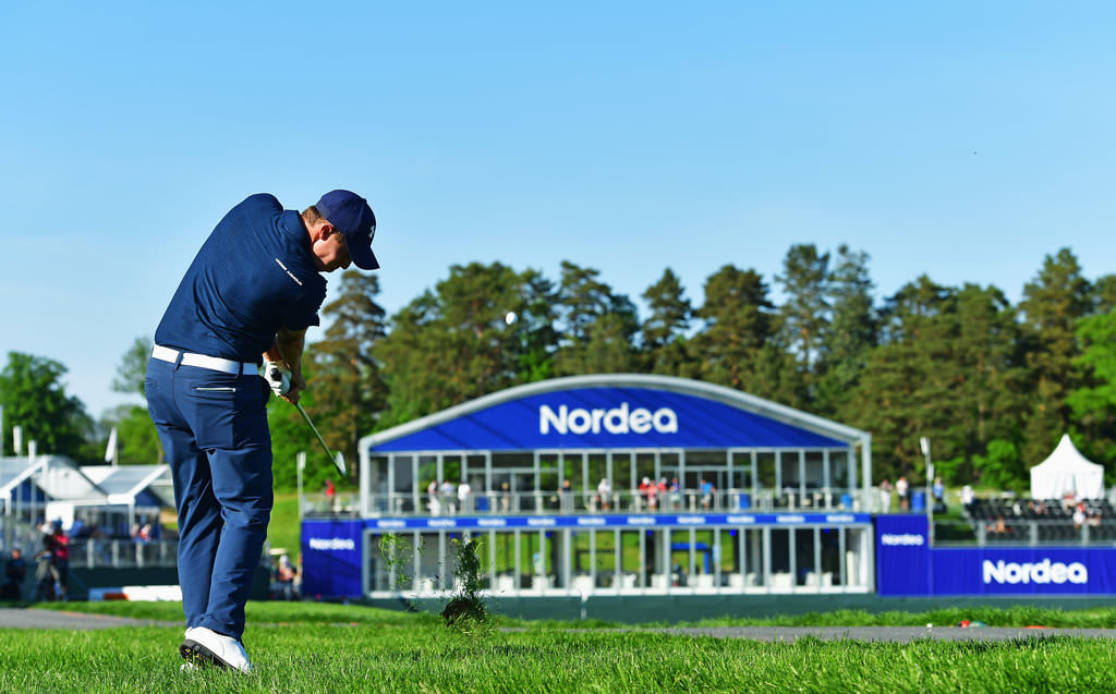 STOCKHOLM, SWEDEN - JUNE 02: Matthew Fitzpatrick of England plays a shot during the first round of the Nordea Masters at Bro Hof Slott Golf Club on June 2, 2016 in Stockholm, Sweden. (Photo by Stuart Franklin/Getty Images)