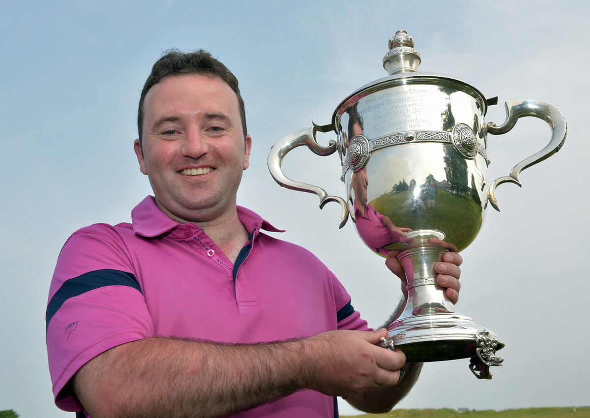 Paul O'Hanlon (Carton House) winner of the CityNorth Hotel sponsored East of Ireland Championship at County Louth. Picture by  Pat Cashman