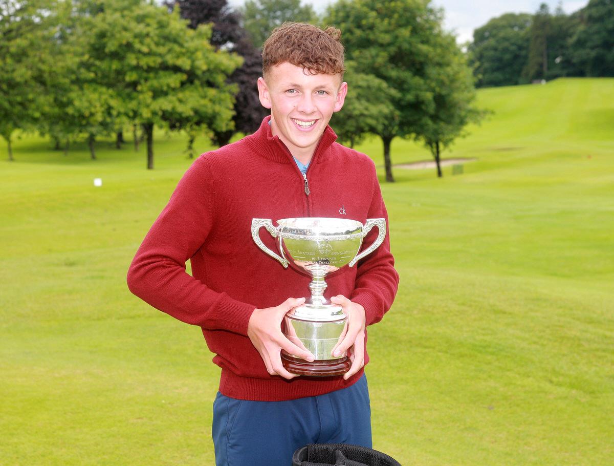 Leinster Boys' Open champion John Brady (Rosslare). Picture:Ronan Temple Lang