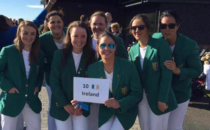 The Irish women's team at the opening ceremony.